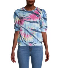 cliché women's puffed-sleeve sweatshirt - size l