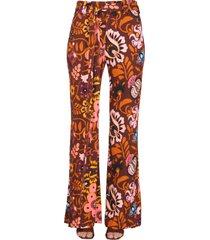 la doublej pants with selva print