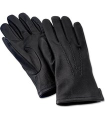 cashmere-lined deerskin glove, black, xl