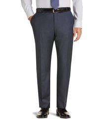 jos. a. bank men's traveler collection slim fit flat front sharkskin suit separate pants clearance, dark blue, 42 regular