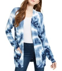 hooked up by iot juniors' tie-dyed cardigan