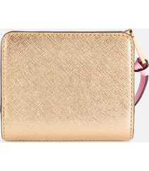 marc jacobs women's mini compact wallet - new black multi