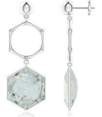 natori indochine white topaz stone earrings, women's, silver natori