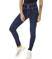jeans high waist escultural mujer azul oscuro corona