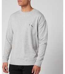 calvin klein men's sweatshirt - grey heather - l
