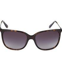 giorgio armani women's 58mm havana square sunglasses - havana