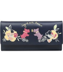 radley london say it with flowers flapover matinee wallet