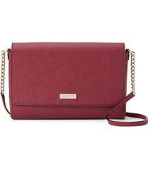 alek leather & faux leather crossbody bag