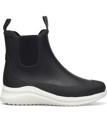 short rubber boots regnstövlar skor svart ilse jacobsen