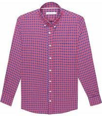 camisa casual manga larga a cuadros regular fit para hombre 92669