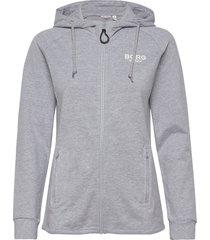 jacket francesca francesca hoodie grå björn borg