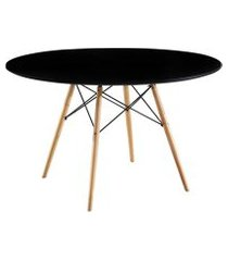 mesa de jantar redonda eames eiffel preta 120 cm