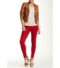 hue women's cotton stretch original jeans deep red skinny leggings, x-small 0-2