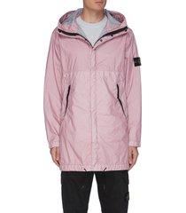 'membrana 3l tc' hooded parka coat