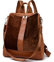 mochilas/ patchwork mujeres mochila mujeres bolsa-marrón
