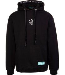 pharmacy industry man black hoodie with back xanny print