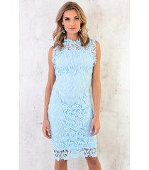 feminine dress lace ice blue