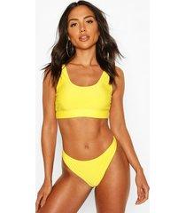 basic crop bikini, yellow