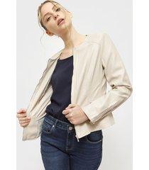 chaqueta only beige - calce ajustado