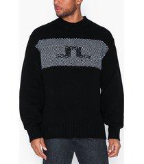 j lindeberg antonio-merino wool nylon mix tröjor black