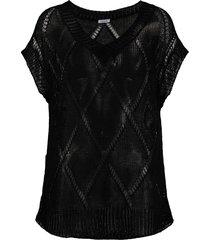 p.a.r.o.s.h. semi-sheer open-knit jumper - black