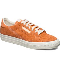 continental vulc låga sneakers orange adidas originals