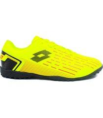 zapatillas para futbol torretin lotto dybala tf h1c - amaillo neon