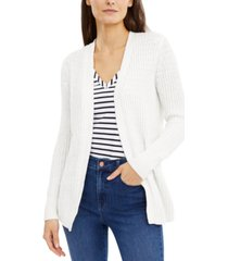 inc petite lace-up cardigan, created for macy's