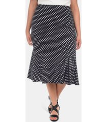 ny collection plus size seamed midi skirt