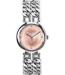 berlin stainless steel & swarovski crystal bracelet 2-hand watch