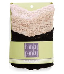 women's hanky panky 5-pack low rise thong, size one size - beige