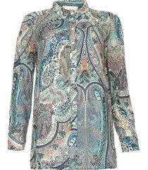 blouse met paisleyprint blake  blauw