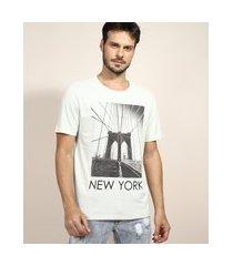 "camiseta masculina ponte new york"" manga curta gola careca verde claro"""