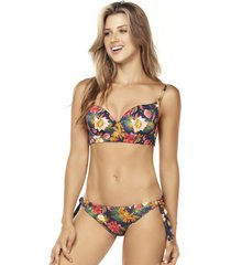 bikini push up tie side multicolor lisantino