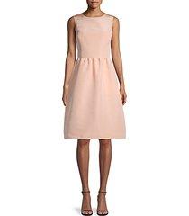 sleeveless silk flare dress