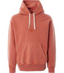 nigel cabourn vintage orange logo hoodie nclghd-orn