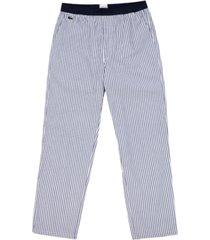 lacoste men's cotton striped pajama pants
