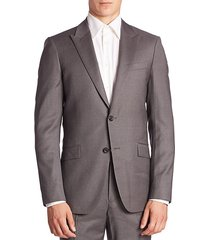 malcolm slim-fit pinstriped suit jacket