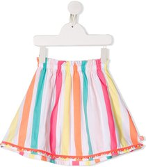 billieblush striped a-line skirt - white