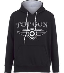 sweatshirt top gun zwart
