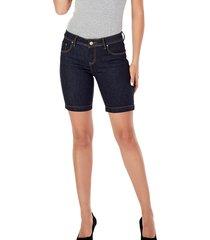 bermuda jeans sideral azul