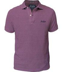 fucsia cotton jersey polo shirt