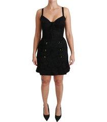 jacquard corset bustier roses jurk