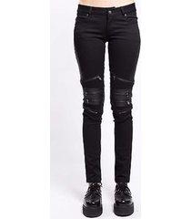 tripp nyc womens gothic rave zip skater emo punk rockabilly biker pants is4177