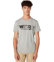 t-shirt korte mouw wrangler w7d2fqx37