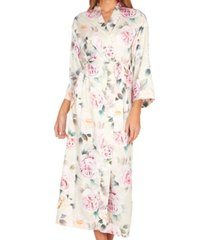 flora nikrooz collections womens lilith printed matte charmeuse long robe