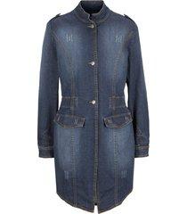 blazer lungo in jeans con arricciature (blu) - bpc bonprix collection