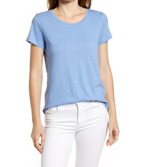 women's caslon slub crewneck tee, size xx-small - blue