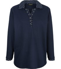 sweatshirt m. collection marine::wit
