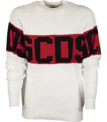 gcds logo sweater white